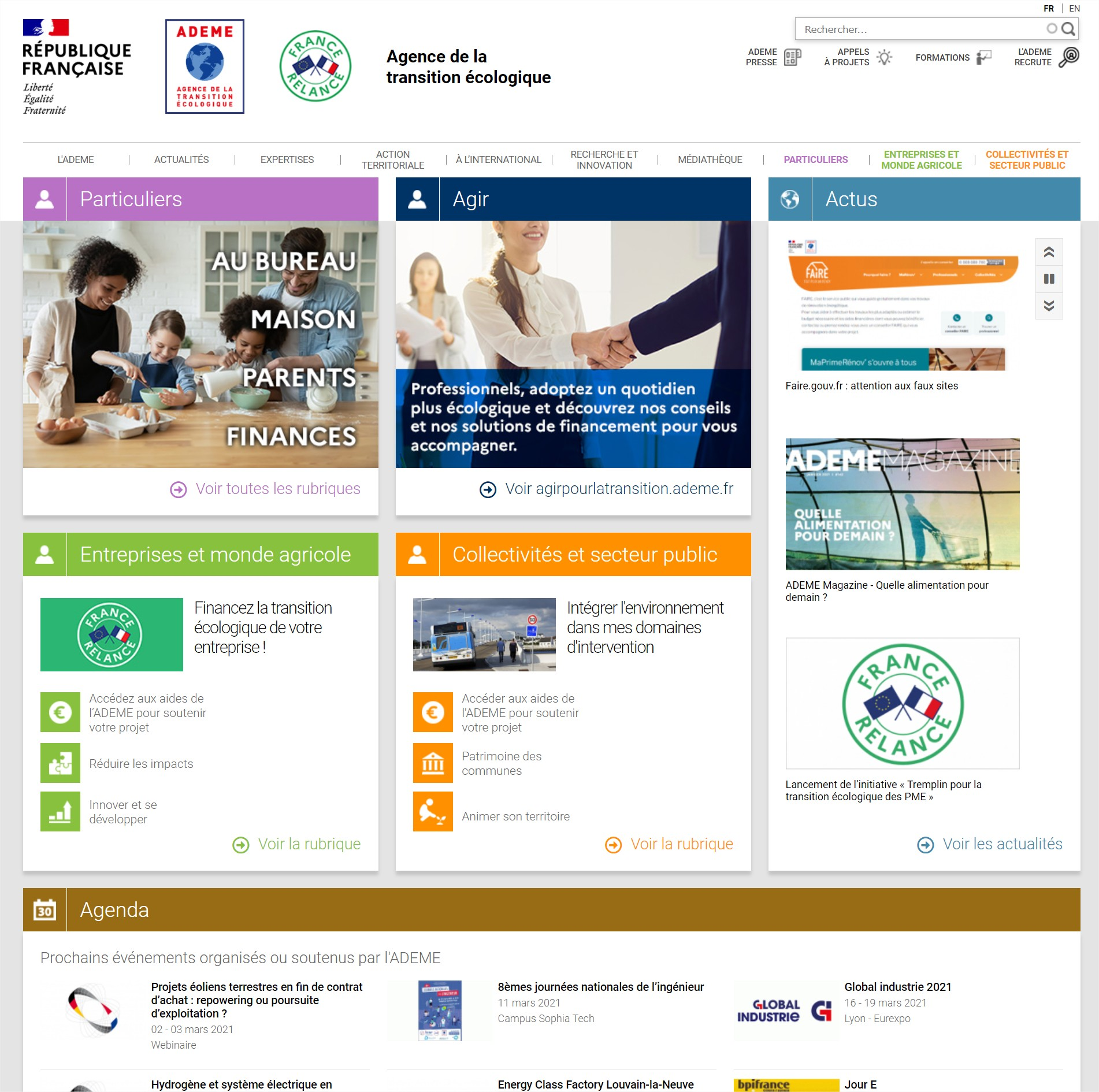 Agence de la transition écologique - ADEME - Google Chrome