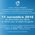 invitation 11 novembre 2016