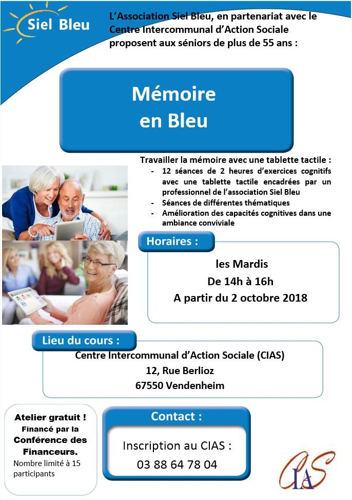 Affiche CIAS Vendenheim mémoire en bleu