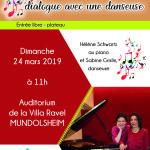 affiche concert danse et piano 24 mars 2019