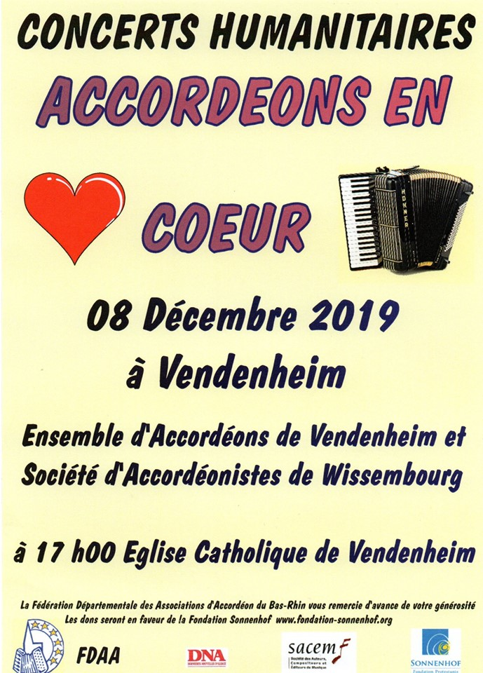 accordéons en coeur
