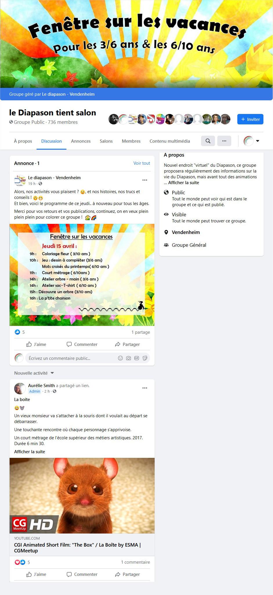 le Diapason tient salon  Facebook
