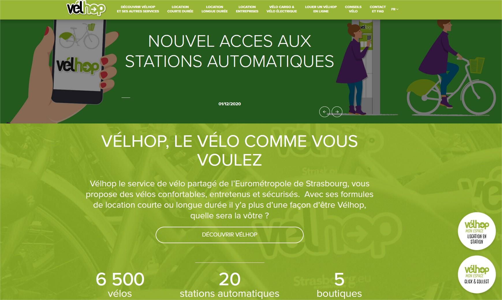 Vélhop, la location de vélo en libre service à Strasbourg Velhop - Mozilla Firefox