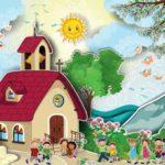 Vecteur Stock Church with children  Adobe Stock - Google Chrome